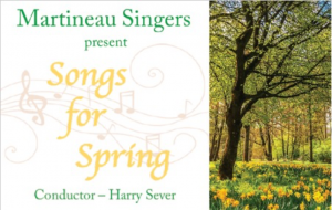 'Songs for Spring' – concert by Martineau Singers, 2nd March 2019